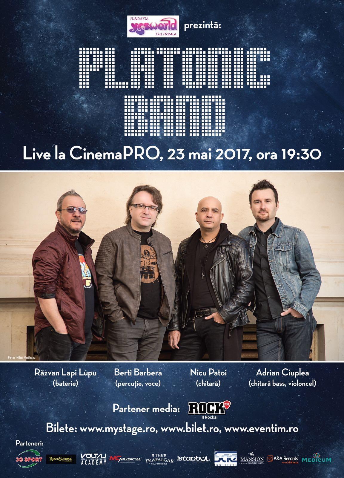 PLATONIC BAND: LIVE @ CinemaPRO, 23 Mai 2017